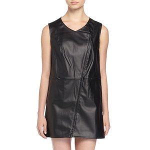 Max Studio vegan faux leather mini dress